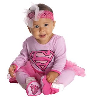 Newborn Infant Baby Girls Pink Supergirl Halloween Costume Onesie 0 6