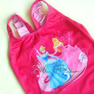 Girls Kids Sz 2 6Y Disney Princess Swimsuit Swimwear Bathing Swimming Costume