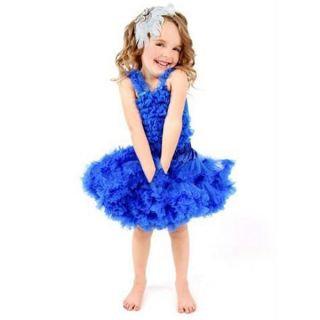 1pc Kid Baby Girl Tutu Dress Pettiskirt Skirt Costume Cloth Dancewear Blue 0 14Y