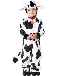 Mini Moo Cow Deluxe Animal Farm Toddler Kids Boys Girls Halloween Costume 4T