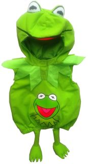 Kermit Frog The Muppets Green Monsters Fancy Dress Up Costume Party 1 2 3 4