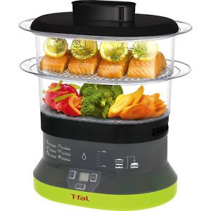 Tiered Stackable Electric Food Steamer 4 Quart Meat Fish Vegetable Cooker