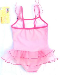 Dora Pink Girls Bathers Tutu Swimsuit Swimwear Tankini Swim Costume 3 4 Years