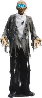 Standing Zombie with Light Up Eyes Animated Prop