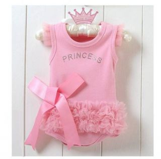 Infant Baby Girl Princess Romper Jumpsuit Dress Costume Clothes Outfit 12 18M