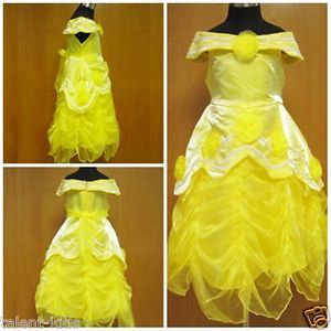 CP080604 BNWT Yellow Belle Baby Toddlers Girls Princess Dress Up Costume 2 3T 2