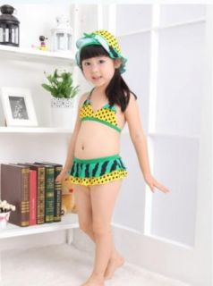 Girls Kids Watermelon Swimwear Tankini Swimsuit Bikini Bathing Sz 2 8Y Costume