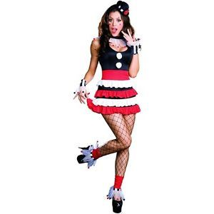 Sexy Cirque Adult Womens Circus Clown Harlequin Halloween Costume