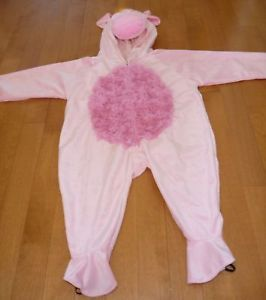 Infant Baby Pink Pig Costume Dress Up Infant Size 12 24 Month Hog Girl Boy