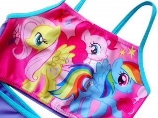 My Little Pony Girl Kids Bathing Suit Swimsuit Swimwear Swimming Costume Sz 6 7
