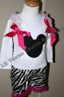 Baby Girl Boutique Clothing Disney Minnie Mickey Mouse Birthday Outfit 18 24mo