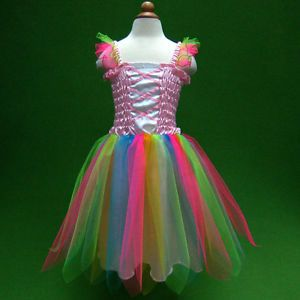 Pink P004 C1528 Baby Toddler x'mas Dance Costume Tutu Skirt Girls Dress 1 9 Y