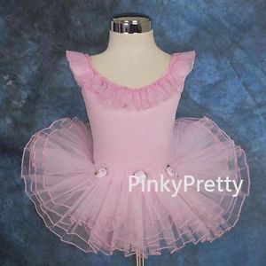 Baby Pink Butterfly Girl Ballet Tutu Dance Costume Fancy Fairy Dress Sz 4 5Y 024