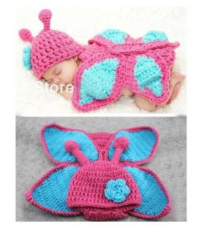 Newborn Baby Girl Boy Crochet Knit Costume Costume Photo Photography Prop