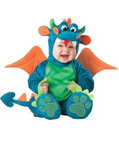 Blue Dinky Flying Dragon Monster Baby Boys Girls Toddler Costume 6 Months 2T