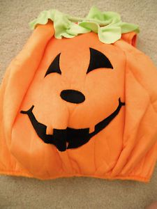 Girls Boys Baby Halloween Costume Pumpkin Easy EUC Cute Simple 12 18 24 Months