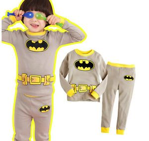 "Baby Girls Kids Suits Boys' Great Gift Sleepwear ""Batman"" Pajamas Set Costume 2T"
