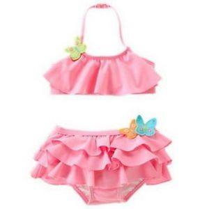 Girls Baby Swimwear Tankini Swimsuit Bikini Bathers 2 8Y Kids Swim Costume New