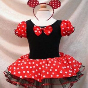 Christmas Polka Dots Minnie Mouse Girls Baby 2 T Party Costume Ballet Tutu Dress