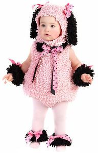 Pinkie Pink Poodle Puppy Animal Toddler Girls Halloween Costume 18M 2T