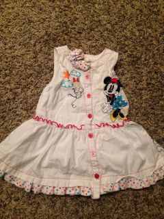 Baby Minnie Mouse White Dress 12 18 Months Girls Infants Toddler