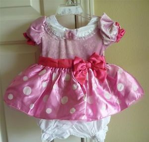 Baby Girls  Pink Minnie Mouse Costume Dress Up Size 3 6 Months