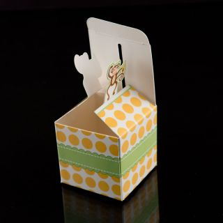12 Giraffe Born to Be Wild Jungle Baby Shower Favor Boxes Party Decorations