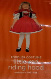 Little Red Riding Hood Costume Girl 2T 3T 2 3 Toddler