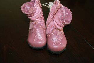 New Girls Baby Infant Star Cowboy Dress Boots Shoes PC Set Outfit Clothes 2 0 3M