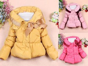 Baby Girls Toddler Outwear Clothes Kids Winter Warm Jacket Coat Snowsuit 1 5Year