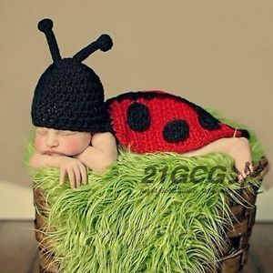 Baby Girl Boy Infant Newborn Knit Crochet Clothes Outfit Cute Photo Prop CA1008