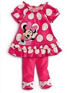 Girls Minnie Mouse Clothes Baby Top Dress Pants Legging Set 2 3Y Summer Outfit