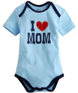 Made in Korea New I Love Mom Baby Boy Girl Infant Cotton Clothing WBA 1035