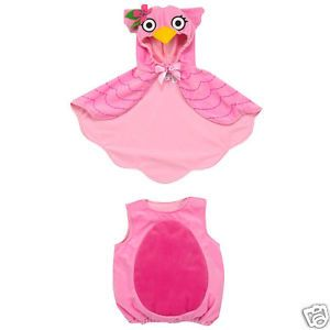 Koala Kids Baby Girl's Pink Owl Cape Halloween Dress Up Costume Sz 12 M