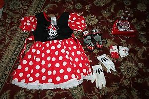 Minnie Mouse Girls Toddler Halloween Costume Dress Up Size XS