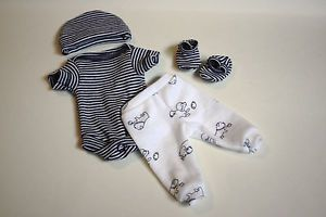 Sculpted OOAK Baby Doll Clothes Bodysuit Tiny Miracle Mini Reborn Preemie 10""