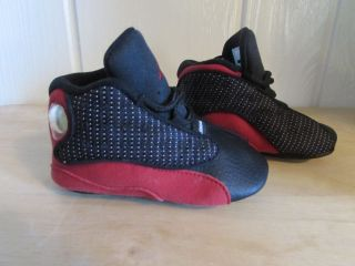 Nike Air Baby Jordan Retro 13 Boys Shoes Red and Black Size 3