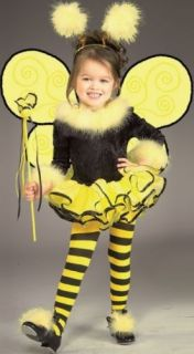 New Kids Halloween Costume Cute Bumble Bee Outfit Dress