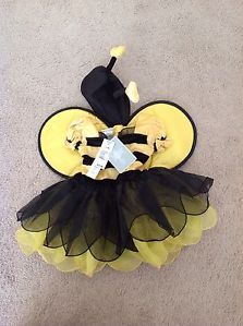 Baby Girls Bumble Bee Halloween Costume Size 12 Months Yellow Black Dress