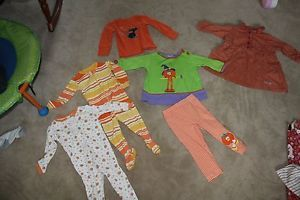 Nice Lot of Mix and Match Baby Girl 12 18 MO Halloween Fall Themed Clothing