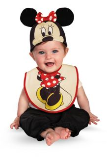 Infant Minnie Mouse Bib and Hat Halloween Costume 0 6 Months