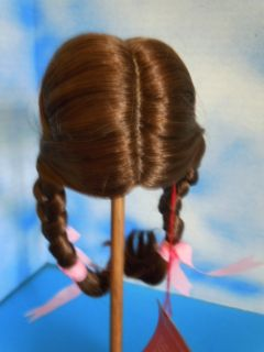 "New Monique ""Kathy"" Doll Wig Lt Brown Braids Size 8"" 9"""