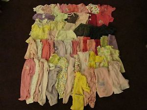 52 Piece 0 3 Month Baby Girl Clothes Lot Huge Large Polka Dot Flower Pink Mix