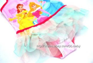 Girls Baby Disney Princess Tutu Swimsuit Swimwear Tankini Swimming Costume 2 6 Y