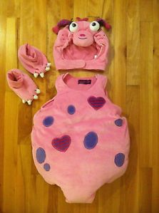The Childrens Place Little Girls Pink Monster Halloween Costume 12 18 Months