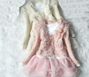 Girls Outfit Jacket Tutu Top Dress Toddler Party Pageant Sz 3 6T Flower Clothes