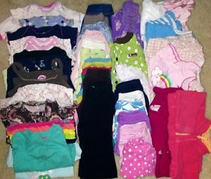 Infant Baby Girl Clothes Lot Size 12 Months Fall Winter 50 Pcs Lot 2