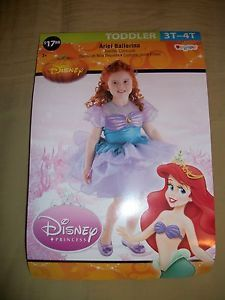 Disney Princess Ariel Ballerina Toddler Costume 3T 4T