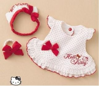 3pcs Kids Baby Girl Dress Headband Bracelet Set Outfit Costume Clothes 0 24M