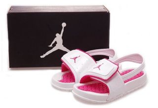 Nike Jordan Hydro 2 Baby Sandals Infant Toddler White Pink 487574 109 SZ8T 10T